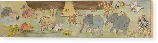 Noah's Ark Wood Print by Ruth Bailey
