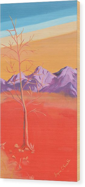 Noble Beast - Panel 3 Wood Print by Joyce Small