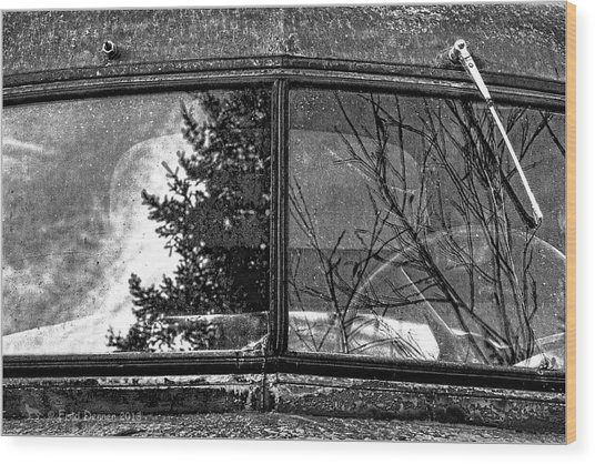 Nobody's Truck Windshield Wood Print