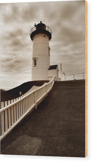 Nobska Lighthouse Wood Print