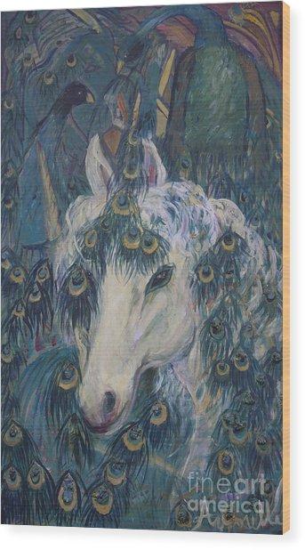 Nola's Unicorn Wood Print