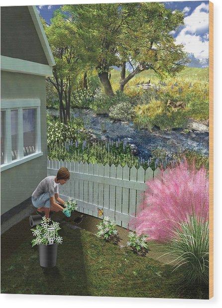 Non-invasive Garden Plants Wood Print