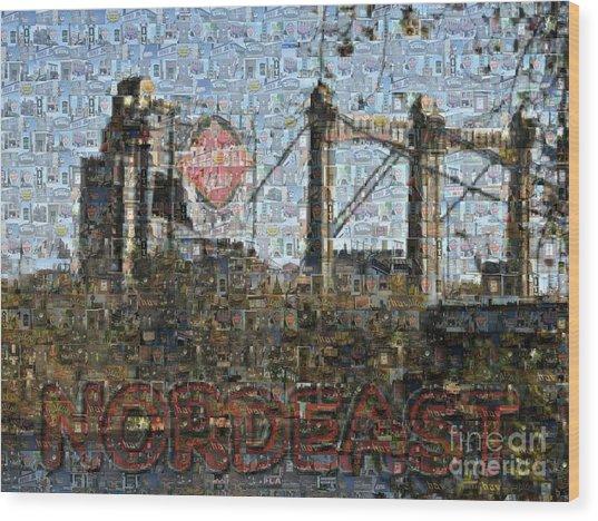 Nordeast Mosaic Wood Print