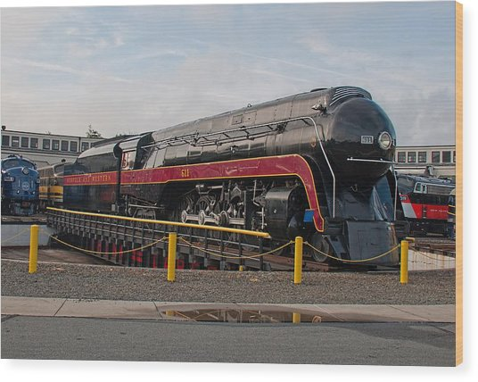 Norfolk And Western Class-j 611 Wood Print