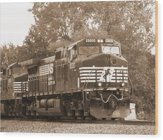 Norfolk Southern Freight Train Wood Print