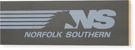 Norfolk Southern Railway Art Wood Print