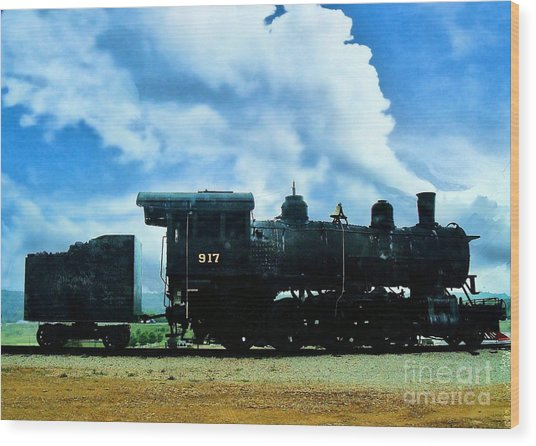 Norfolk Western Steam Locomotive 917 Wood Print