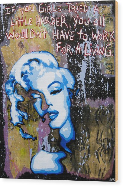 Norma Jean Wood Print by Bobby Zeik