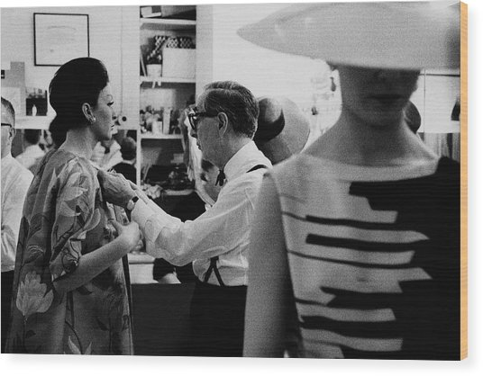 Norman Norell Backstage Wood Print