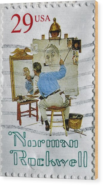 Norman Rockwell Wood Print
