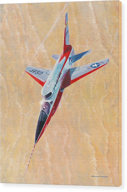 North American F-107a Ultra Sabre Wood Print