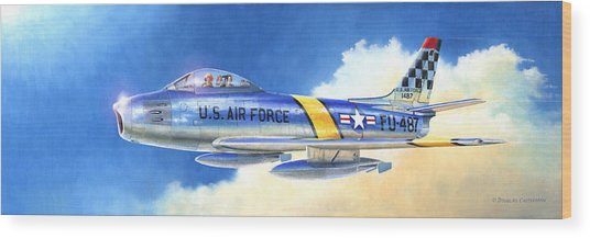 North American F-86f Sabre Wood Print