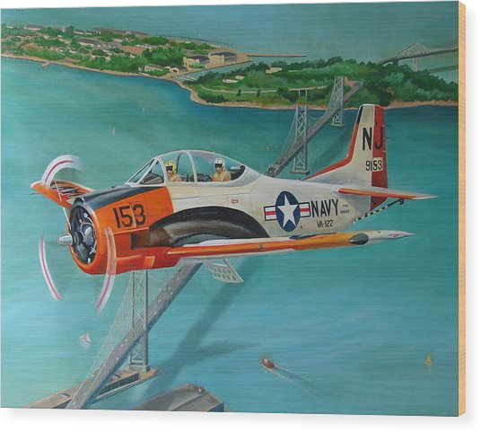 North American T-28 Trainer Wood Print