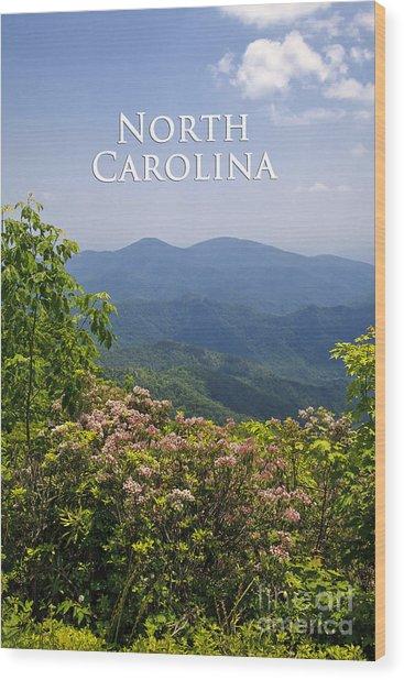 North Carolina Mountains Wood Print