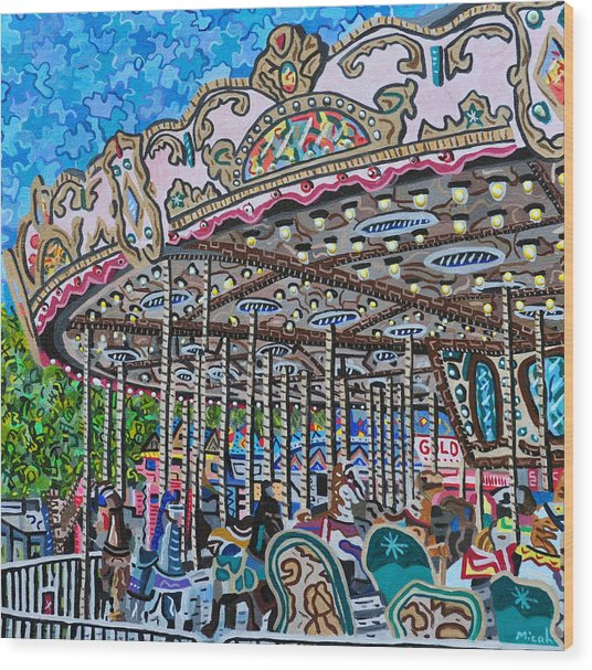 North Carolina State Fair Wood Print by Micah Mullen