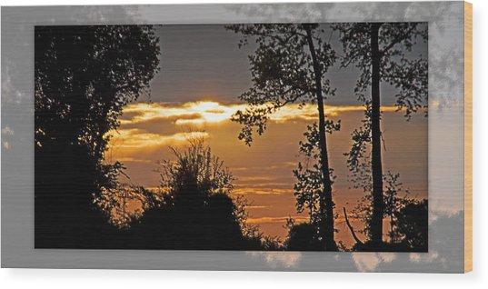 North Carolina Sunset Wood Print