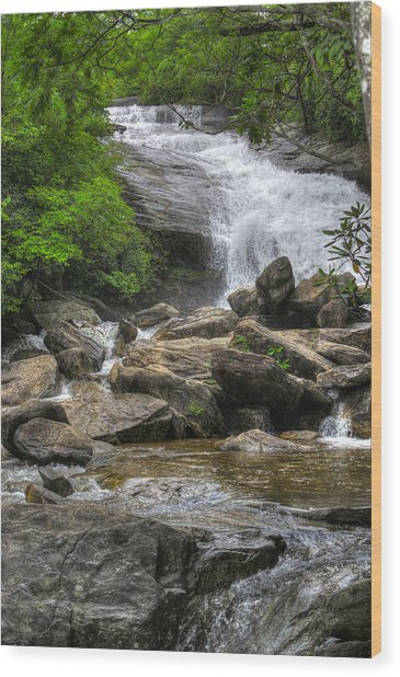 North Carolina Waterfall Wood Print