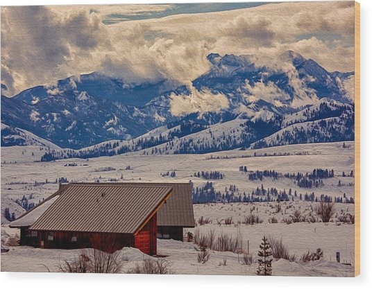 North Cascades Mountain View Wood Print