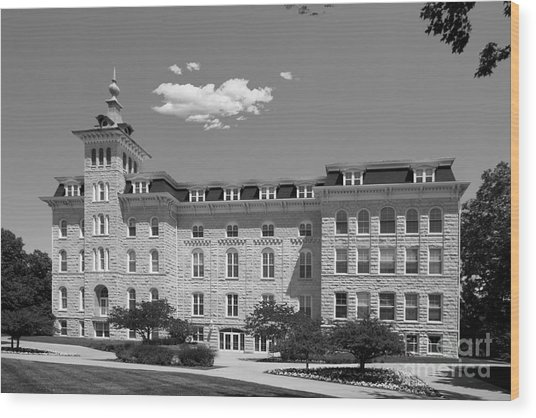 North Central College Old Main Wood Print