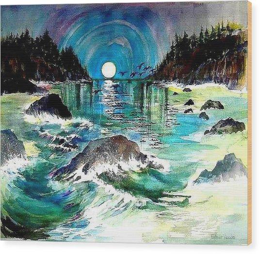 North Coast Sea Wood Print