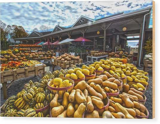 North Fork Farmstand Wood Print