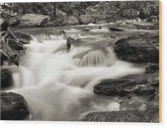North Georgia Mountains Creek Wood Print