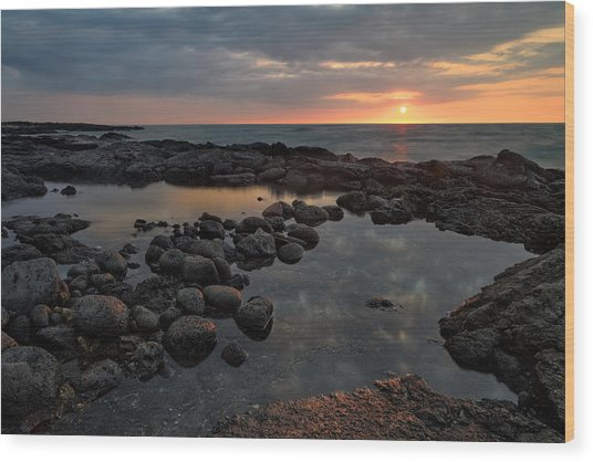 Big Island - North Kona Beach Wood Print