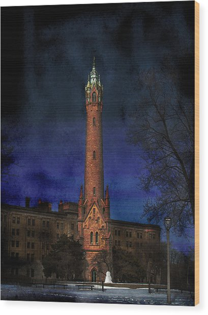 North Point Water Tower Wood Print