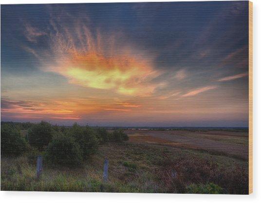 North Refuge Sunrise Wood Print