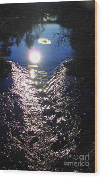 North River High Wood Print by Maria Scarfone