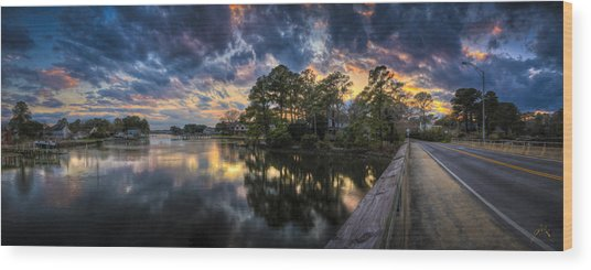 North Shore Sunset Wood Print by Williams-Cairns Photography LLC