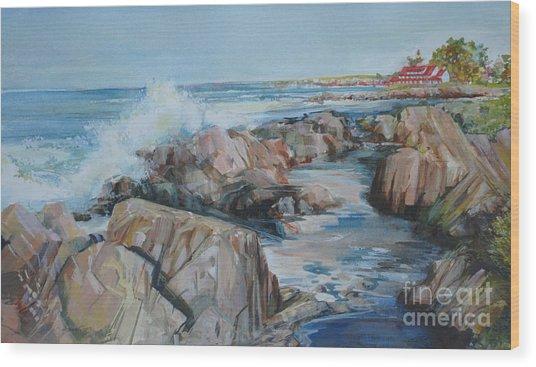 North Shore Surf Wood Print