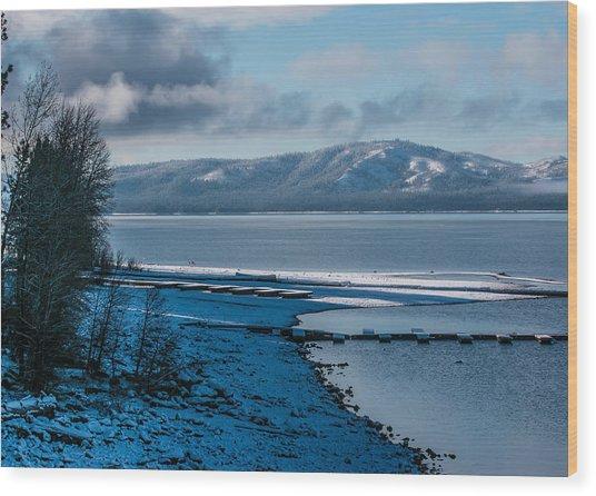 North Shore Winter Blues Wood Print