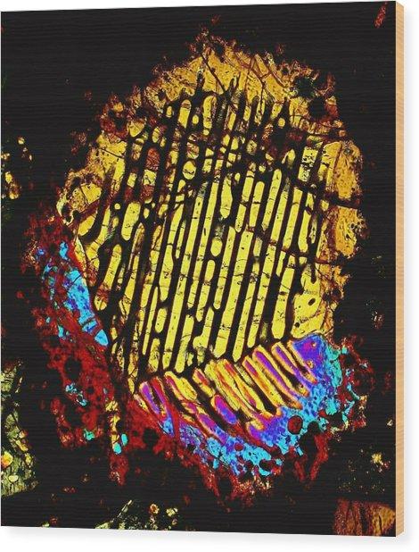 Neon Fingerprint Wood Print