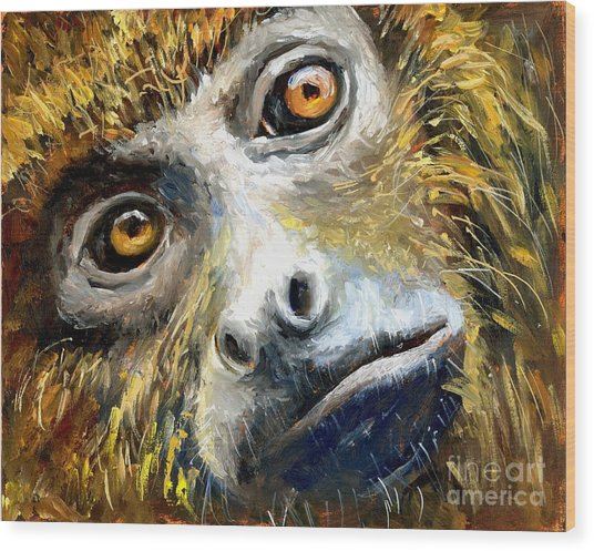 Northern Brown Howler Monkey Wood Print