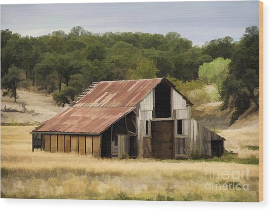 Northern California Barn Wood Print