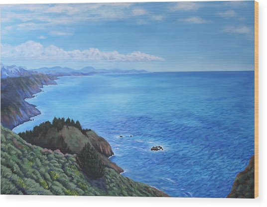 Northern California Coastline Wood Print