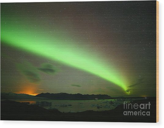 Northern Lights 2 Wood Print