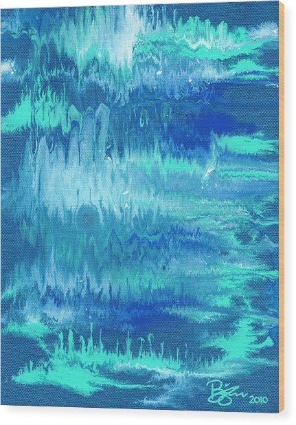 Northern Lights Wood Print by Lance Bifoss