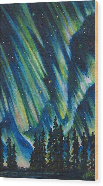 Northern Lights V Wood Print