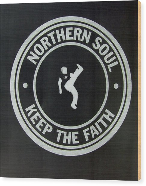 Northern Soul Dancer Inverted Wood Print