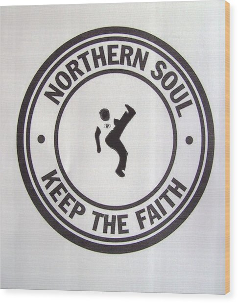 Northern Soul Dancer Wood Print