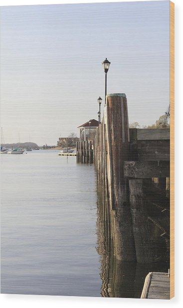 Northport Dock A Different Perspective Wood Print