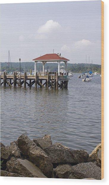 Northport Dock Wood Print