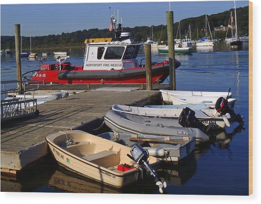 Northport Fire Boat Wood Print