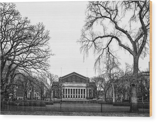 Northrop Auditorium At The University Of Minnesota Wood Print