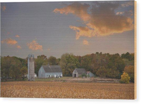 Northwest Iowa Farmscape Wood Print