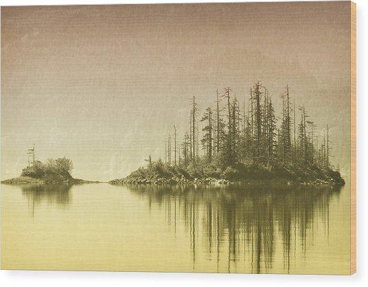 Northwest Islet Wood Print
