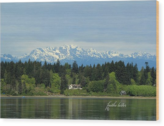 Northwest Living II Wood Print