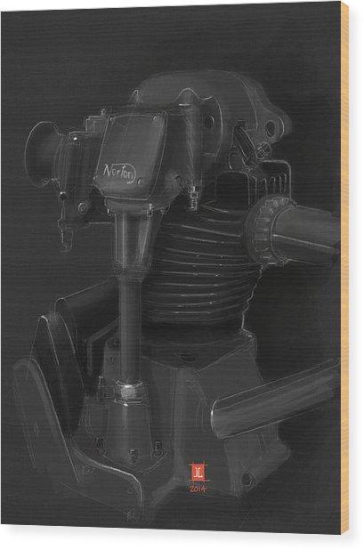 Norton Motor Wood Print